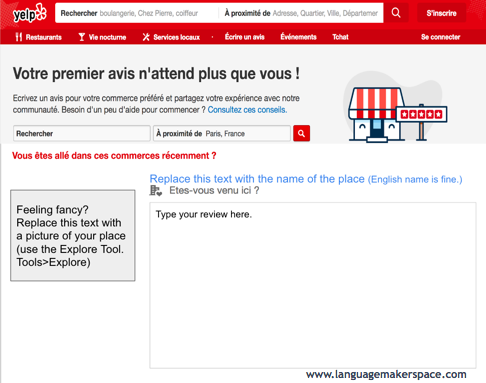 Yelp Template – Language Makerspace